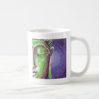 Green and Purple Mosaic Buddha Face Mug