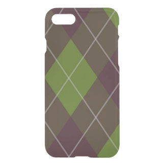 Green and Purple Plaid iPhone 7 Case