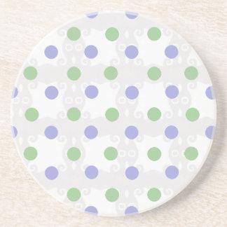 Green and Purple Polka Dot Coaster