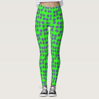 Green and Purple Polka Dot Leggings