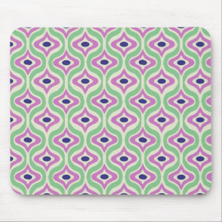 Green and Purple Retro Pattern Mouse Pad