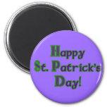 Green and Purple St. Patrick's Day shirts Fridge Magnet