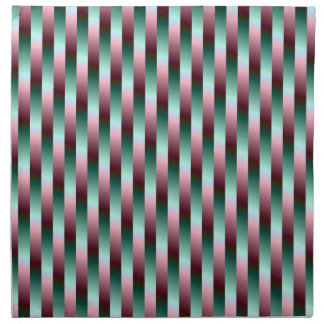 Green and Purple Stripes American MoJo Napkins
