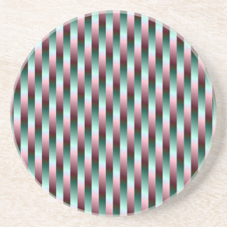 Green and Purple Stripes Coaster