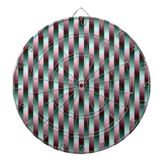 Green and Purple Stripes Dartboard