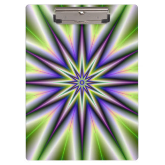 Green and Purple Time Star Clipboard