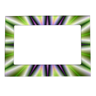 Green and Purple Time Star Magnetic Picture Frame