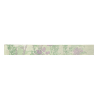 Green And Purple Watercolor Ribbon Satin Ribbon