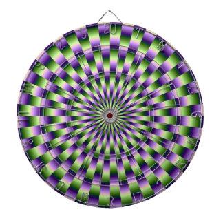 Green and Purple Weave Dartboard