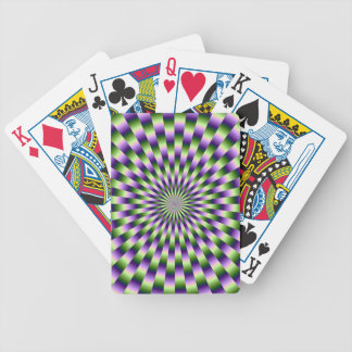 Green and Purple Weave Playing Cards