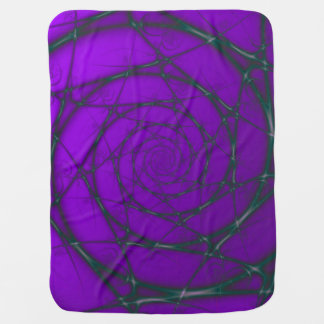 Green and Purple Wire Spiral Baby Blanket