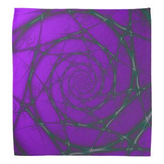 Green and Purple Wire Spiral Bandana