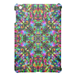 Green and Rainbow Mandala Pattern Case For The iPad Mini
