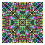 Green and Rainbow Mandala Pattern Photograph