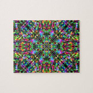Green and Rainbow Mandala Pattern Puzzles