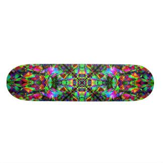 Green and Rainbow Mandala Pattern Skate Boards