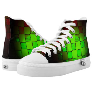 Green and Red Burst Printed Shoes
