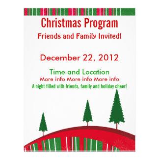 christmas program flyers leaflets. Black Bedroom Furniture Sets. Home Design Ideas