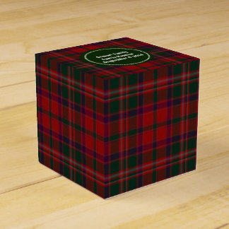 Green and Red Clan Stewart Plaid Favor Gift Box Favour Boxes