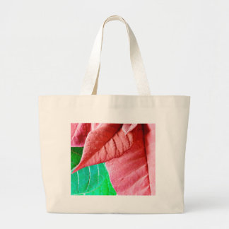 Green And Red Leaves Canvas Bags