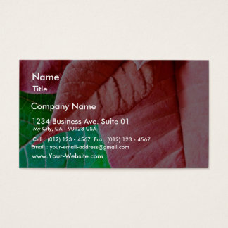 Green And Red Leaves Business Card