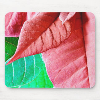 Green And Red Leaves Mousepads