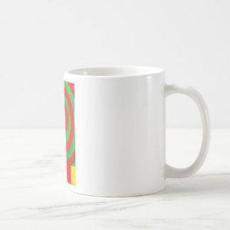 Green and Red Pastel Spiral (naive pattern) Basic White Mug