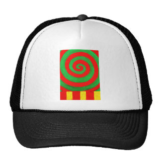 Green and Red Pastel Spiral (naive pattern) Trucker Hat