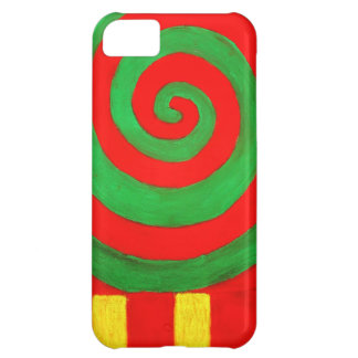 Green and Red Pastel Spiral naive pattern iPhone 5C Case