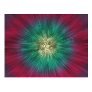 Green And Red Starburst Postcard