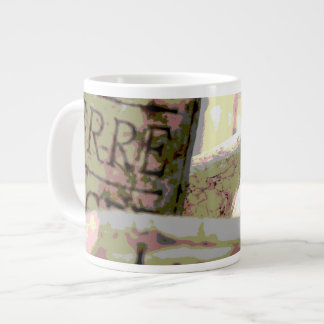 Green and Red Toned Wine Corks Extra Large Mug