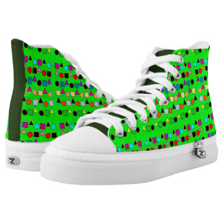 Green and Shapes Pattern Shoes