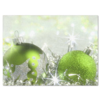Green And Silver Christmas Tissue Paper