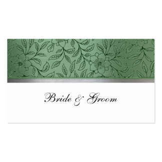 Green and Silver Metallic Place Cards Business Card