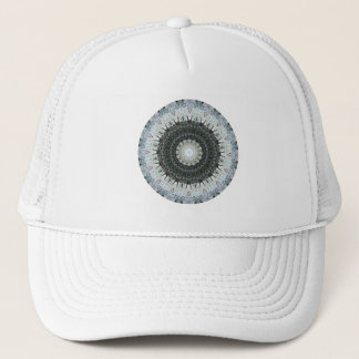 Green and Silver Tinsel in a Tangle Mandala Trucker Hat