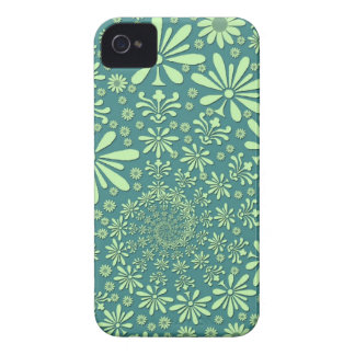 Green and Teal Blue Floral Pattern Case-Mate Blackberry Case