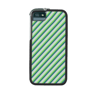 Green and Teal Diagonal Stripes Case For iPhone 5/5S