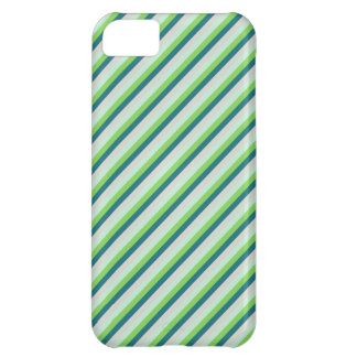 Green and Teal Diagonal Stripes iPhone 5C Covers