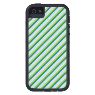 Green and Teal Diagonal Stripes Case For iPhone 5
