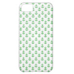 Green and White Anchors Pattern iPhone 5C Cover