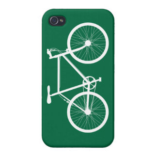 Green and White Bicycle iPhone 4/4S Cover