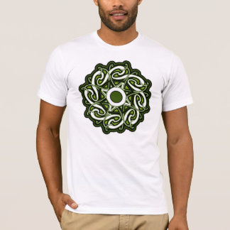 Green and White Celtic Knotwork Shirt