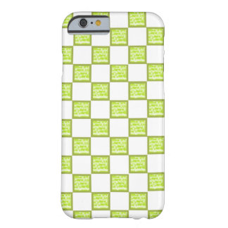 Green And White Checked iPhone Casing/Skin Barely There iPhone 6 Case
