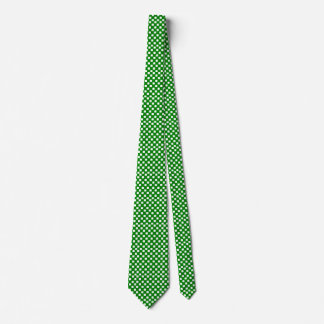 Green and White Checked Tie