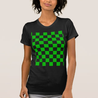Green and White Chequered Pattern T-Shirt