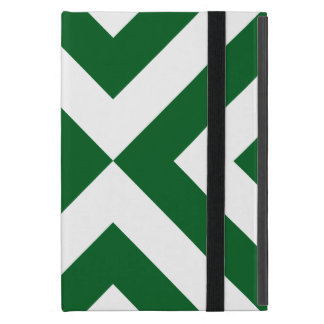 Green and White Chevrons Cover For iPad Mini