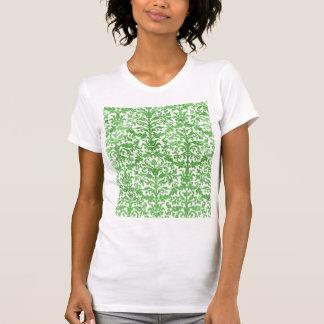 Green and White Damask Wallpaper Pattern Shirt