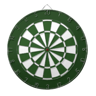 Green and White Dartboard