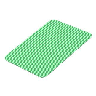 Green and White Diagonal Stripes Flexible Magnets