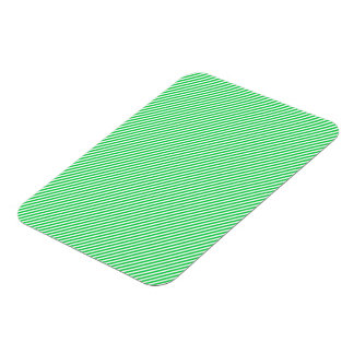 Green and White Diagonal Stripes Rectangular Photo Magnet
